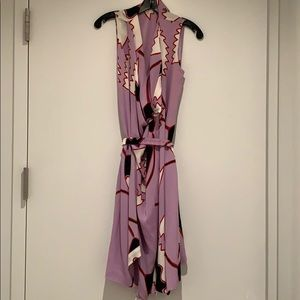 Diane von Furstenberg Cowl neck printed dress